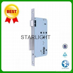 45*85mm Brass latch Stainless steel plate fire proof mortise lock for doors