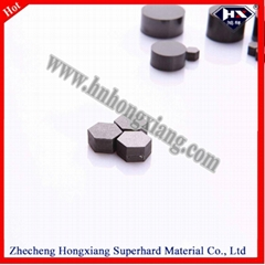 PCD blank for diamond wire drawing die