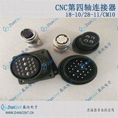 CNC第四轴连接器22芯28-11插头
