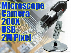 usb digital microscope camera 200X 2M Pixel