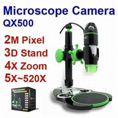 usb digital microscope camera 520X 3D Stand QX500