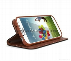 PU leather protection case for Samsung  Galaxy S4