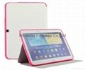 三星P5200官方三折皮套p5210支架Tab 3 10.1寸电压平板正品护壳 1
