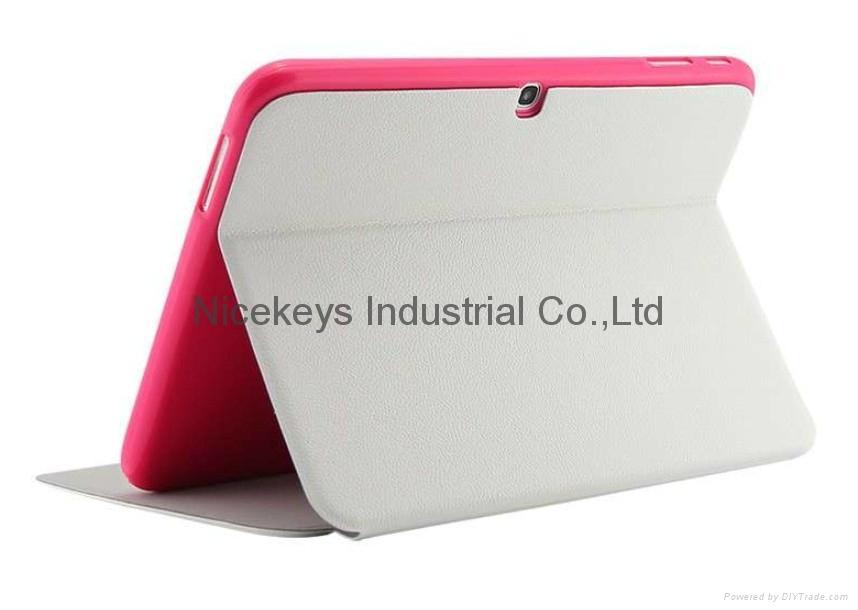 三星P5200官方三折皮套p5210支架Tab 3 10.1寸电压平板正品护壳 2