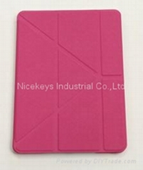 Ultra thin Y style folded leather case for Ipad Air