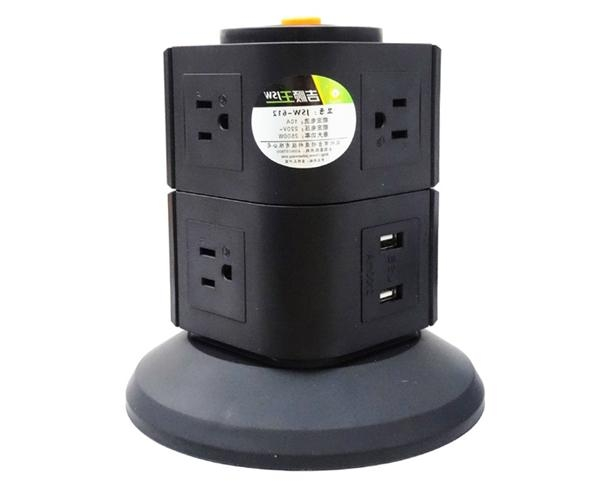 110V 5 outlet with 2 usb multi-function electrical adapter for Mexico 1