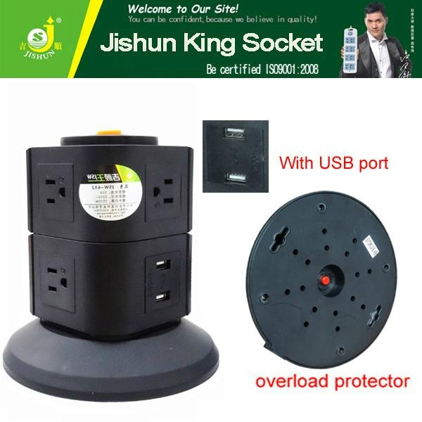110V 5 outlet with 2 usb multi-function electrical adapter for Mexico 3