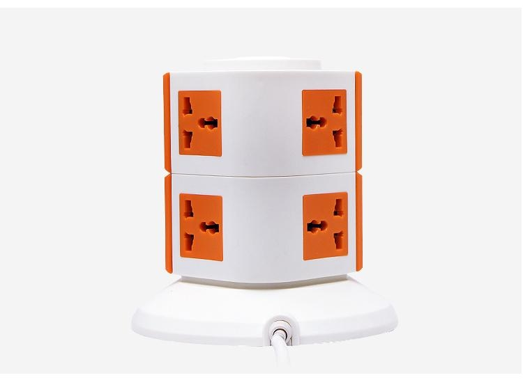 Tower extension electrical 2 layer universal socket outlet 4