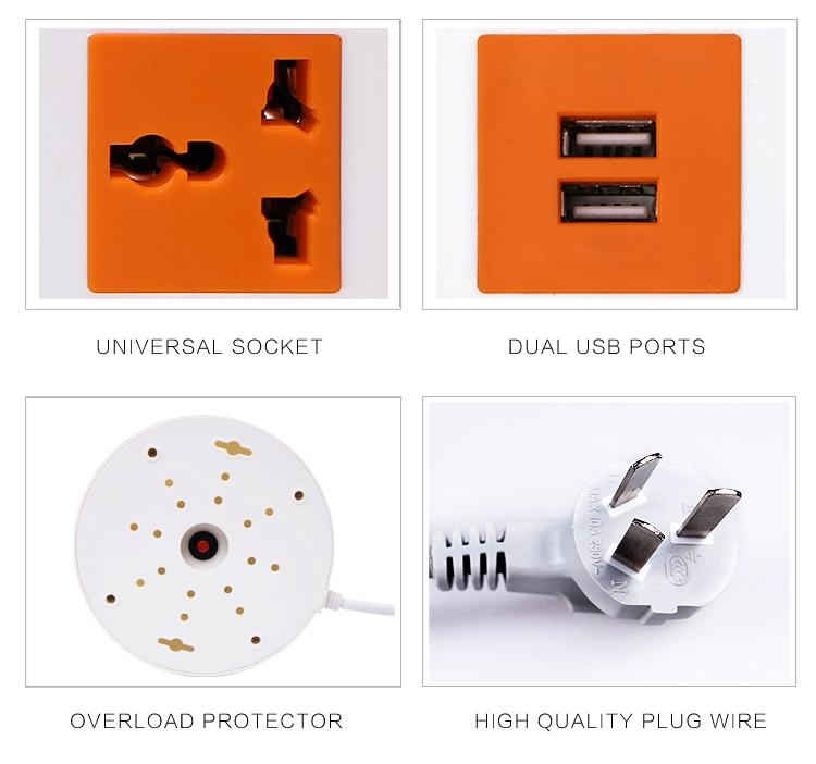 Tower extension electrical 2 layer universal socket outlet 5