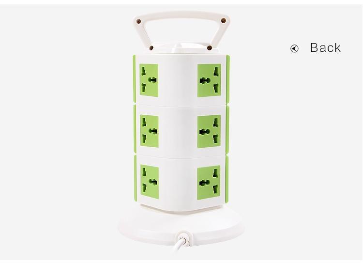 Australia saa power socket,9 outlets germany luminous type electrical socket 4