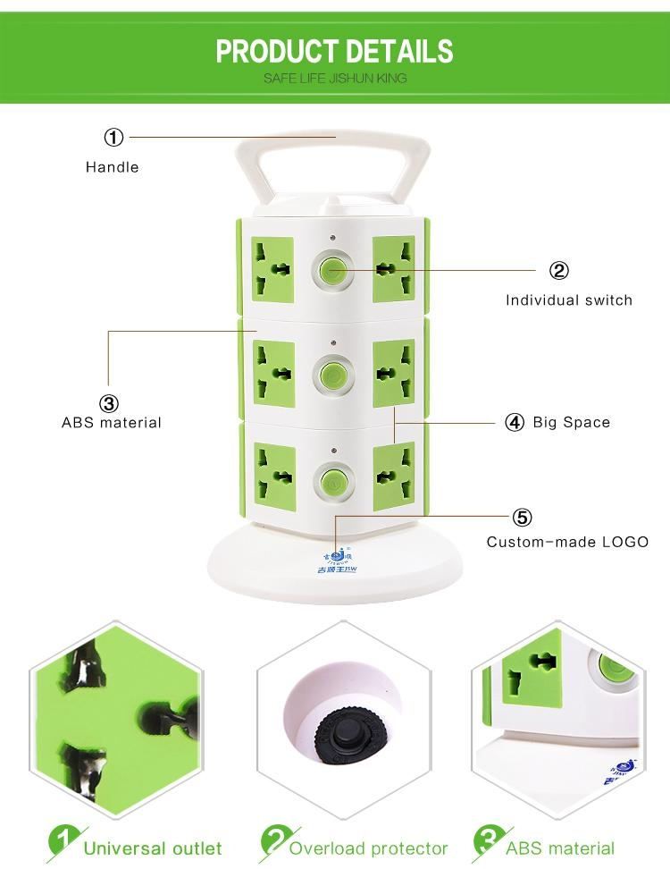 Australia saa power socket,9 outlets germany luminous type electrical socket 3