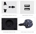 613 Hot Sell Sliding Electric UPS Power Plug Socket  5