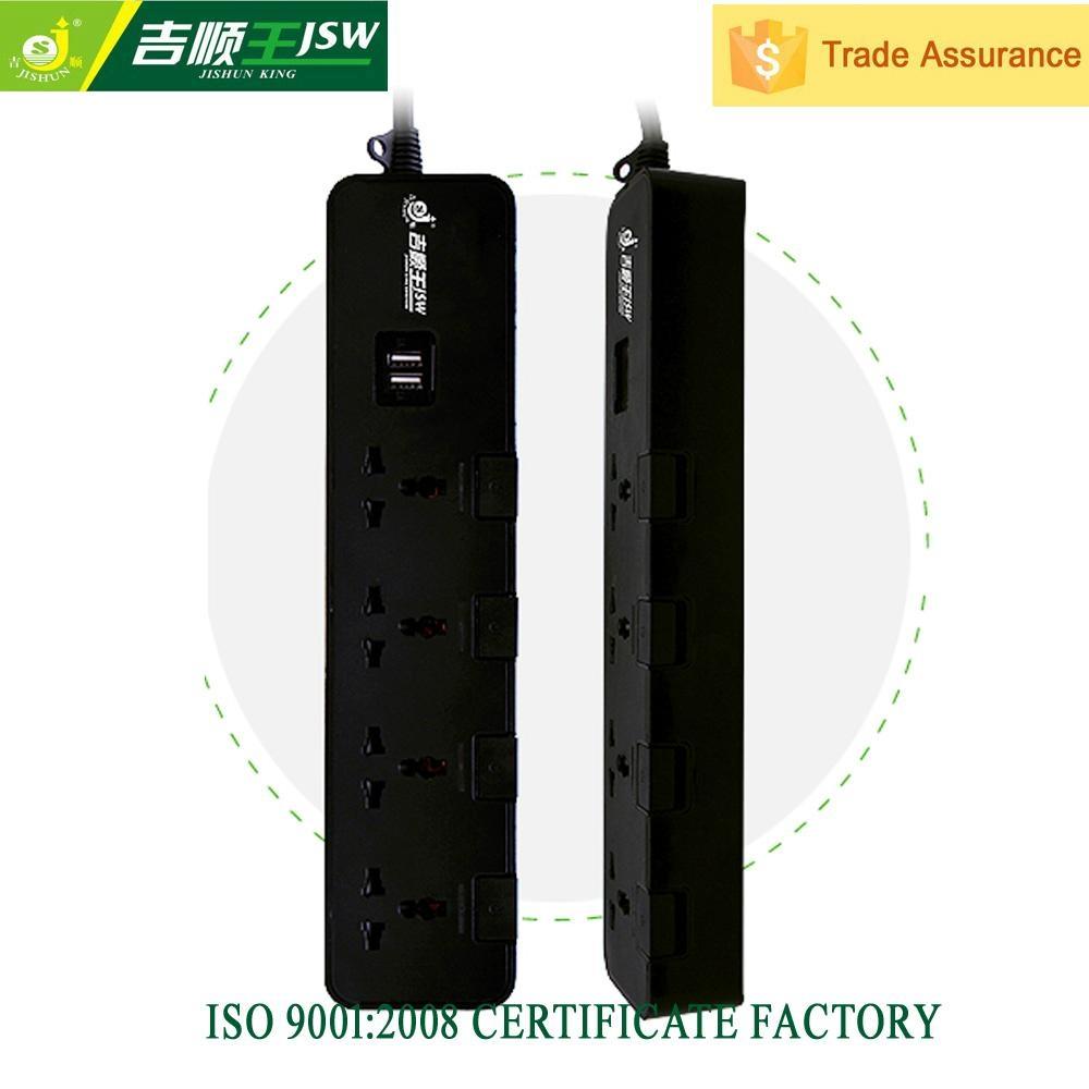 250V multi outlet with dual usb ports 5 gang universal socket plug  1