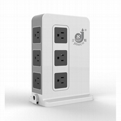 UL Approved AWG14 US 10 Electrical Outlets Vertical Power Socket