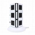 110V ETL Electrical Plugs Tower Socket Extension Power Strip 2