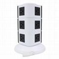 110V ETL Electrical Plugs Tower Socket Extension Power Strip 4