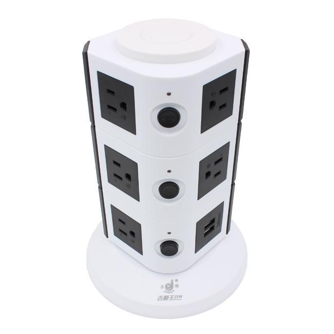 110V ETL Electrical Plugs Tower Socket Extension Power Strip 5