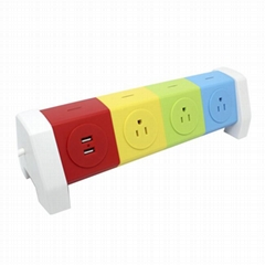 Rotating Electrical 7 Outlet Household