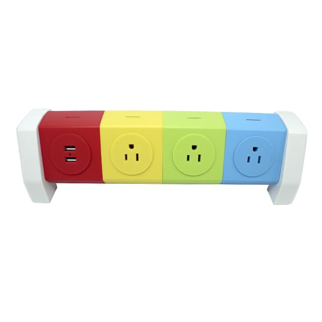 Rotating Electrical 7 Outlet Household Power Strip Overload Board Spike Guard  3