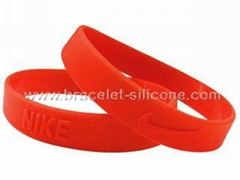 Embossed Silicone Wristbands & Silicone Bracelets - STARLING