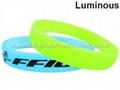Luminous Silicone Wristbands & Silicone