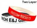Two Layer Silicone Wristbands & Silicone