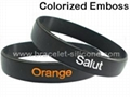 Embossed Printed Silicone Wristbands &