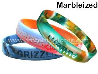Swirled Silicone Wristbands & Silicone Bracelets - STARLING 1