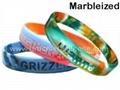 Swirled Silicone Wristbands & Silicone