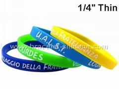Thin Silicone Wristbands & Silicone Bracelets - STARLING