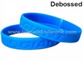 Debossed Silicone Wristbands&Silicone