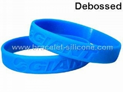 Debossed Silicone Wristbands&Silicone Bracelets - STARLING