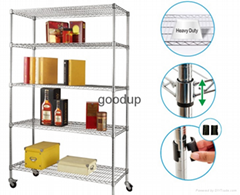 Heavy Duty Commercial Metal Wire Storage Rack Shelf