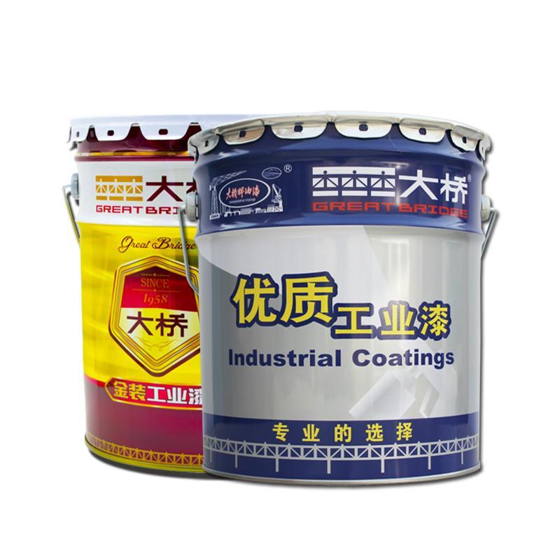 大橋丙烯酸聚氨酯面漆 鋼結構廠房儲罐機械設備建築油漆塗料 3