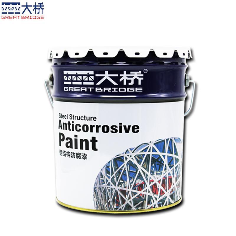 大桥灰色厚桨型环氧云铁中间漆 钢结构管道储罐防腐防锈油漆涂料 3