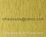 Golden brushed aluminum coil  for Decoration