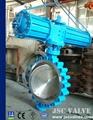 Pneumatic actuator lug type metal seat