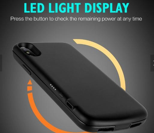 2017 New Design Model Power Bank Battery Case for IPhone X Support USB-C Fast Ch 4