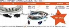 MAC 5000/5500ST CAM 14 Compatible Coiled Patient Cable