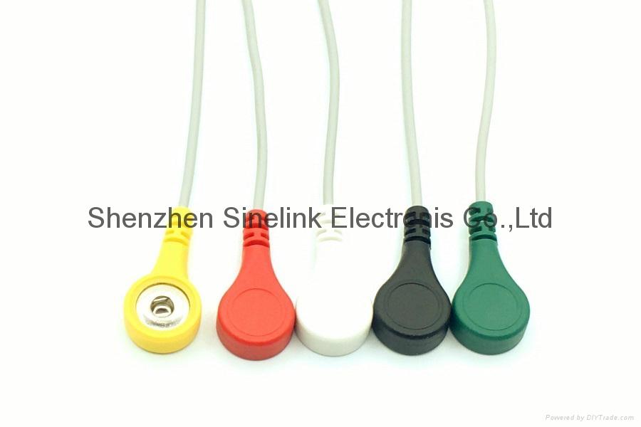 Holter-5导联分线,DIN式连接器插头,欧标 2