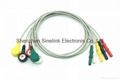 Holter-5导联分线,DIN式连接器插头,欧标