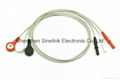 Holter cables, 3 leads, DIN Plug, AHA