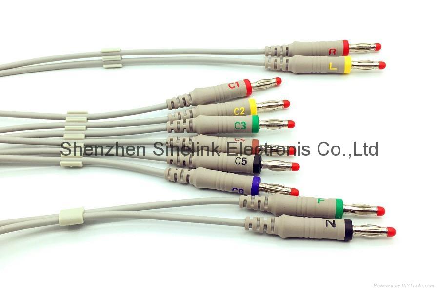 日本光电®心电图机十导联线-香蕉插头式 2