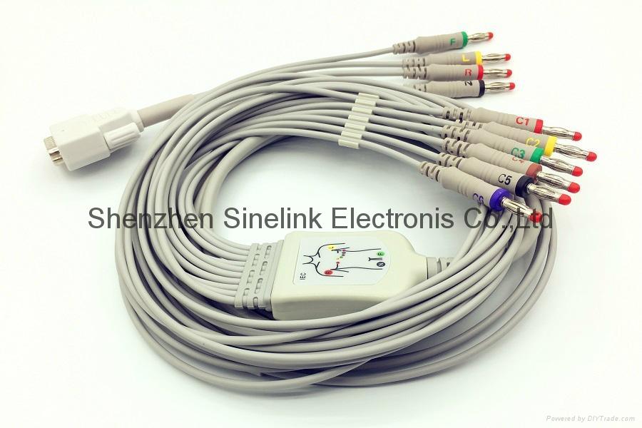 日本光电®心电图机十导联线-香蕉插头式 1