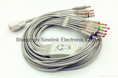 日本光电®心电图机十导联线-香蕉插头式