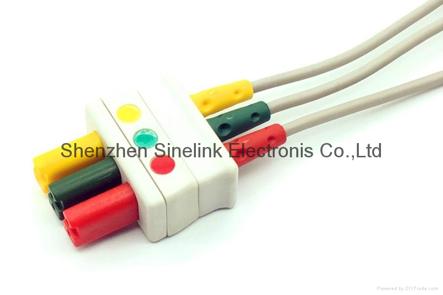Simens/Draeger® 3 Leadwires, Clips 2