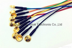 Casted gold cup electrode, EEG Electrode