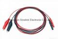 Alligator Clip Electrode, one red plus
