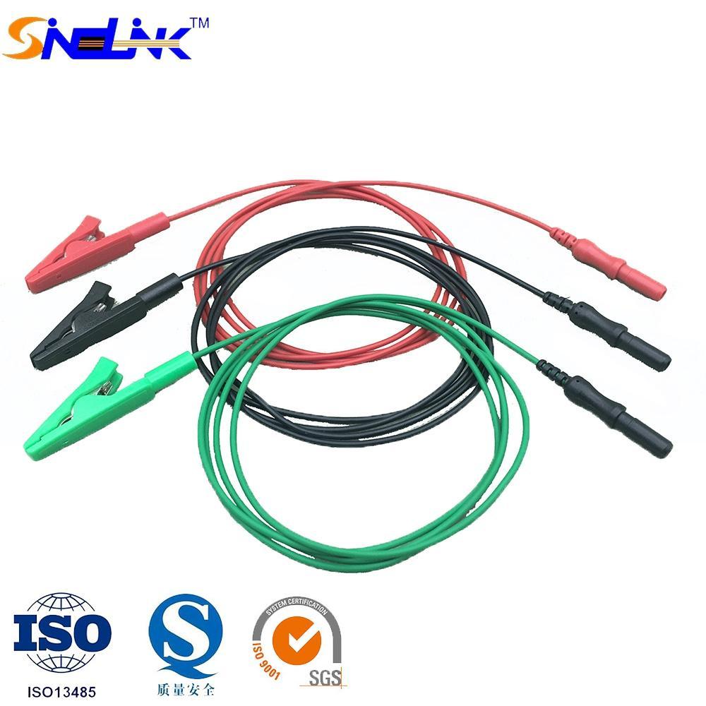 Insulated- Alligator Clip Leadwires for EEG/EMG - 810281-XX ...