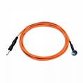EEG Reusable cup shaped copper material si  er chloride electrode cable 5